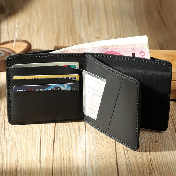 Handmade Leather Trifold Billfold Wallet Personalized Mens Trifold Wallets for Men