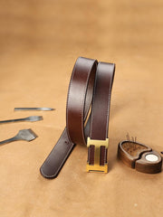 Handmade Mens Coffee Leather Leather Belts PERSONALIZED Leather Belt for Men