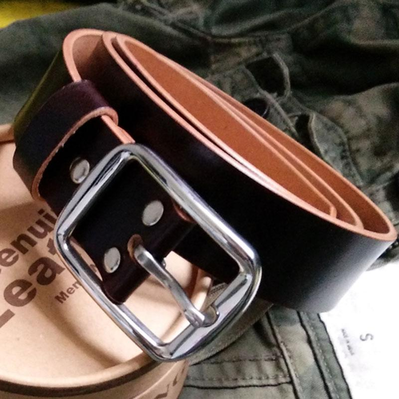 Handmade Coffee Leather Mens Belt Leather Belt for Men
