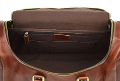 Handmade Genuine Leather MenS Travel Duffle Bag Laptop Weekender Bag Overnight Bag Vintage Shoulder Vintage Bag