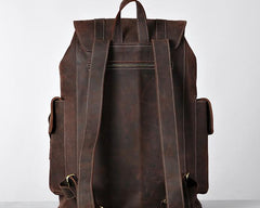 Handmade Genuine Leather Mens Cool Backpack Large Travel Bag Hiking Bag for Men