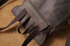 Handmade Genuine Leather Mens Cool Backpack Sling Bag Large Travel Bag Hiking Bag for Men