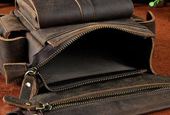 Cool Genuine Leather Vintage Belt Bag FANNY PACK BUMBAG Waist Bag For Mens