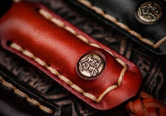 Handmade Leather Braided Biker Trucker Carp Wallets Chain for Chain Wallet Biker Wallet Trucker Wallet