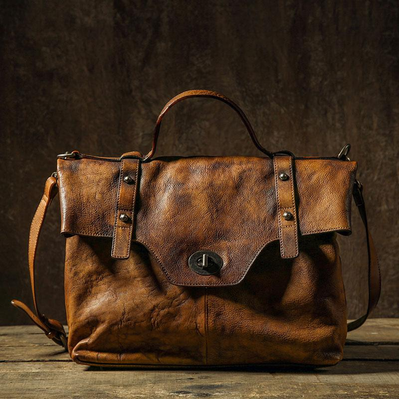 0ab17df0704 Next.  329.00. Overview£º. Design  Handmade Leather Mens Cool Messenger Bag  Briefcase Work Bag Business ...