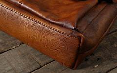 Handmade Leather Mens Cool Messenger Bag Handbag Work Bag Business Bag Shoulder Bag for men