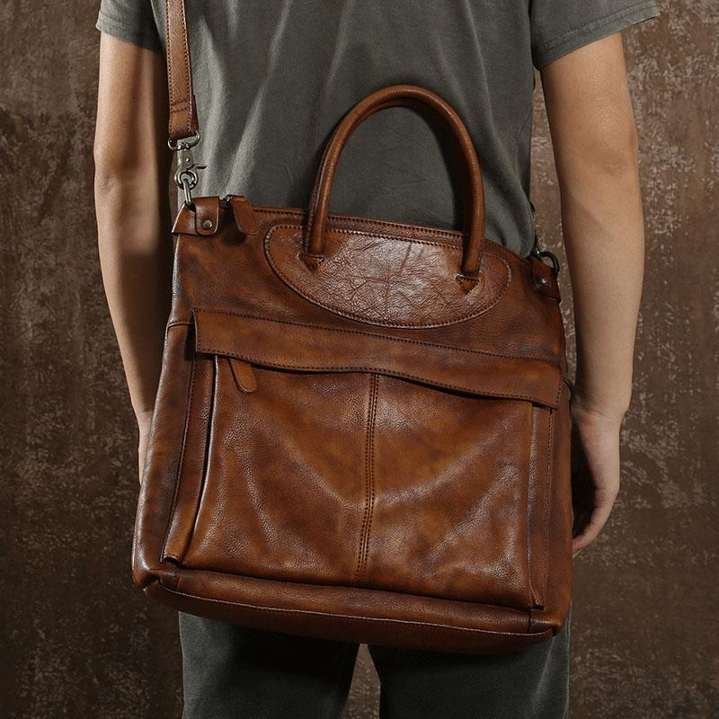 e98e26c5d7c Next.  269.00 269.00. Overview£º. Design  Handmade Leather Mens Cool  Messenger Bag Briefcase Work Bag Business ...