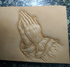 Handmade Leather Praying Tooled Mens billfold Wallet Cool Leather Wallet Slim Wallet for Men