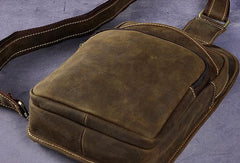 COOL LEATHER MENS SLING BAG CROSSBODY Backpacks CHEST BAG FOR MEN