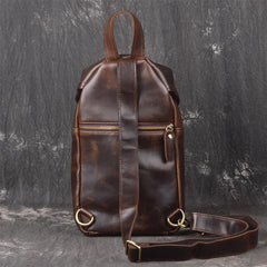 COOL LEATHER MENS CHEST BAG SLING BAG CROSSBODY Backpack FOR MEN