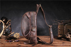 COOL LEATHER MENS SLING BAG SLING Shoulder BAG Chest Bag FOR MEN