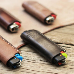Leather Bic Lighter Case Leather Cricket Lighter Holder Leather Lighter Covers For Men