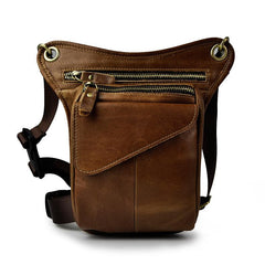 Leather Belt Pouches for Men Leg Drop Bag waist BAG Small Shoulder Bag For Men