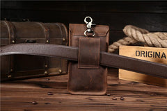 Cool Leather Belt Pouch for Men Waist Bag BELT BAGs For Men