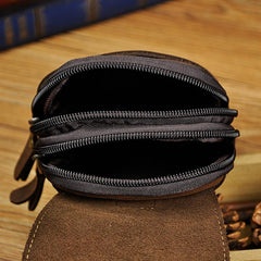 Vintage Leather Mens Cigarette Cases Belt Pouch Waist Bag BELT BAG For Men