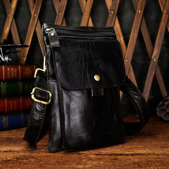 Leather Mens Belt Pouch Cell Phone Holster Waist BAG Shoulder Bags For Men