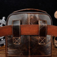 Mens Leather Belt Pouch Waist Bag BELT BAG Small Shoulder Bag For Men