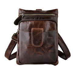 Cool Leather Mens Belt Pouch Waist Bag BELT BAG Small Side Bag For Men