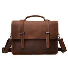 Leather Vintage Mens Briefcases Professional Briefcase 13'' Laptop Briefcase For Men