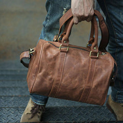 Leather Mens Small Weekender Bags Travel Bag Shoulder Bags for men