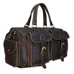 Cool Vintage Leather Mens Overnight Bag Travel Bag Weekender Bag Duffle Bag for Men
