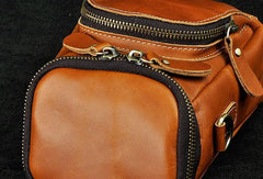 MEN LEATHER Belt Pouch Cell Phone Holsters WAIST BAG BELT BAG for Men
