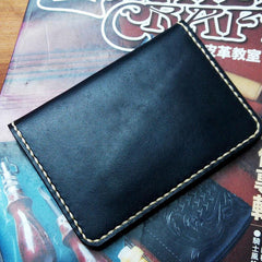 Mens Leather Slim Passport Wallets Leather Small Travel Wallet for Men