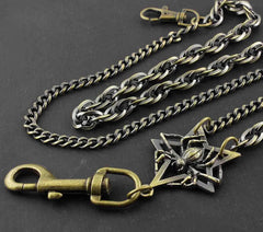 Metal Brass Spider Wallet Chain Cool Punk Rock Biker Trucker Wallet Chain Trucker Wallet Chain for Men