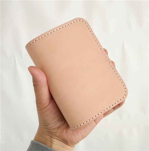 [On Sale] Handmade Mens Leather Small Wallets Cool billfold Wallet for Men