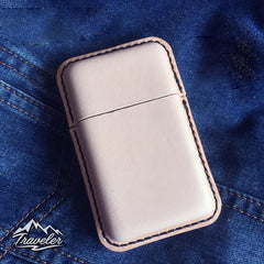 Leather Mens Cigarette Holder Case Vintage Custom Cigarette Cases for Men