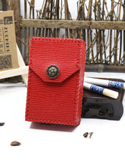 Cute Handmade Leather Womens Red Cigarette Holder Case for Women