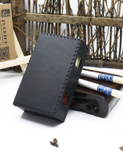 Cool Black Leather Cigarette Holder Handmade Leather Mens Cigarette Holder Case for Men