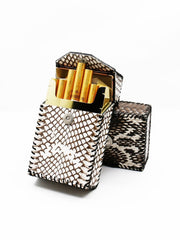 Cool Handmade Cobra Leather Mens Snake Skin Cigarette Holder Case for Men