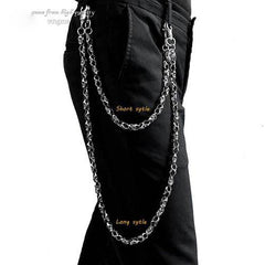 PUNK SKULL BIKER SILVER WALLET CHAIN LONG PANTS CHAIN SILVER SKULL Jeans Chain Jean Chain FOR MEN