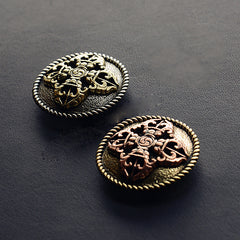Silver Wallet Conchos Tibetan Cross Conchos Button Conchos Screw Back Decorate Concho Tibetan Cross Biker Wallet Concho