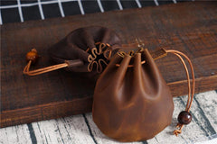 Black Women Mens Leather Coin Purse Coin Pouch Change Case Mini Leather Pouch For Men and Women