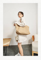 Simple Canvas Womens Mens Tote Bag Messenger Tote Shoulder Bags Canvas Tote Purse for Women