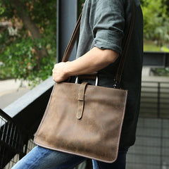 Slim Leather Mens Cool Briefcase Work Bag Business Bag Laptop Bag for men