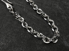 Solid Stainless Steel Cool Punk Rock Skull Wallet Chain Biker Trucker Wallet Chain Trucker Wallet Chain for Men