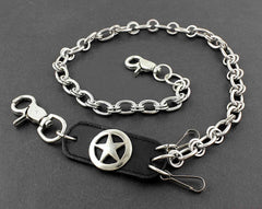 Solid Stainless Steel Star Wallet Chain Cool Punk Rock Biker Trucker Wallet Chain Trucker Wallet Chain for Men