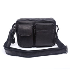 Handmade Genuine Leather Mens Cool Messenger Bag Chest Bag Bike Bag Cycling Bag for men