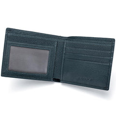 Genuine Leather Mens Cool Slim Leather Wallet Men Small Wallets Bifold for Men