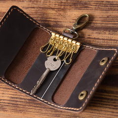 Handmade Leather Mens Cool Key Wallet Car Key Holder Car Key Case for Men