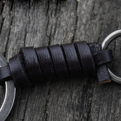 Handmade Biker Trucker Motorcycle Keychain Cool Bullet Key Ring Keychain Fob Leather Keychain