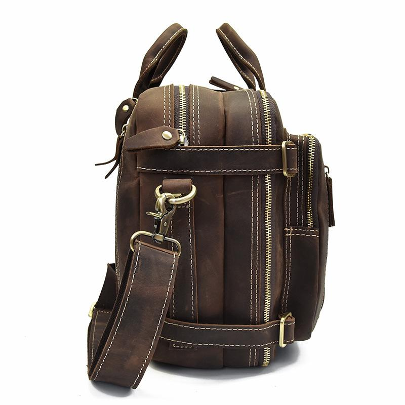 39f8fc7a82ec Genuine Leather Mens Cool Messenger Bag Work Bag Satchel Bag Briefcase Bag  for men. SKU  YF05481091. Previous