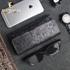 Handmade Floral Mens Womens Leather Glasses Case Glasses Box Glasses Holder Eyeglass Case