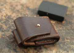 Cool Mens Leather Zippo lighter Holder with clip Zippo Lighter Case with Loop