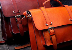 Genuine Leather Mens Cool Messenger Bag Briefcase Satchel Bag Bike Bag Cycling Bag for men