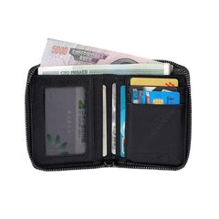 Handmade Leather Mens Chain Biker Wallet Cool Leather Wallet Bifold billfold Wallets
