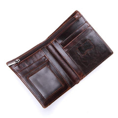 Vintage Mens Wallet Small Slim Bifold Wallet Front Pocket Wallet for Men